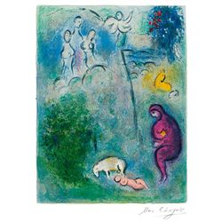 Daphnis Discovers Chloe- Chagall - Limited Edition on Canvas
