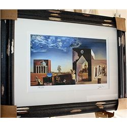 Salvador Dali Signed Limited Edition - Suburbs Of  A Paranoiac