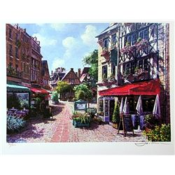 Jacobson Limited Edition Lithograph  Outside Cafe