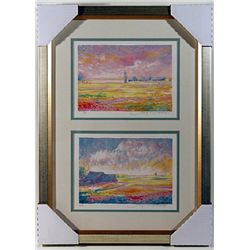 2  Pieces Color Lithograph by Jean Fomard