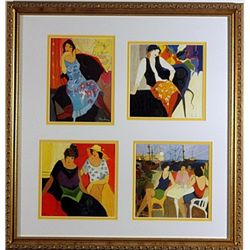 4 Pieces Color Fine Art Lithograph by Tarkay