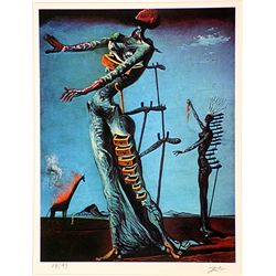 Salvador Dali Signed Limited Edition - THE BURNING GIRAFFE