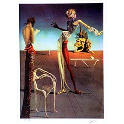 Salvador Dali Signed Limited Edition - Woman with a Head of Roses