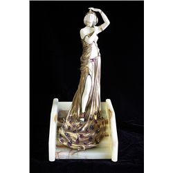 Lady On The Steps - Bronze and Ivory Sculpture by Andre Bouraine