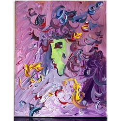 Peter Max Original Acrylic On Canvas - Lady in My Dream-