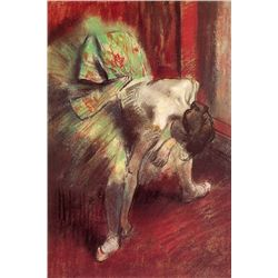 Dancer In Green Tutu - Edgar Degas - Limited Edition on Canvas
