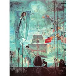 Discovery Of America - Dali - Limited Edition on Canvas
