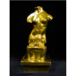 Original Limited Edition 24K Gold Layered Bronze  Salvador Dali  - Unknown Title