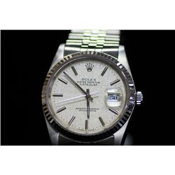 Gents Authentic Stainless Steel Oyster Perpetual Rolex Watch