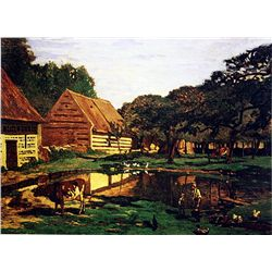 Farmyard in Normandy by Monet