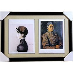 Edouard Manet and Paul Cezanne-Lithographs Set