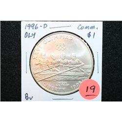 "1996-D US Olympiad XXVI-Atlanta 1996 Centennial Olympic Games ""Rowing"" Commerative $1 Coin, BU"