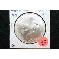 "1996-D US Olympic Atlanta 1996 Centennial Olympic Games ""Womens Tennis"" Commerative $1 Coin, BU"