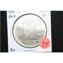 "1995-D US XXVI Olympiad Atlanta ""Bicycling"" Commerative $1 Coin, BU"