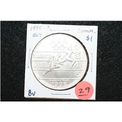 "1995-D US XXVI Olympiad Atlanta ""Track & Field"" Commerative $1 Coin, BU"