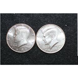 1990-P & 1991-P Kennedy Half Dollar, Lot of 2