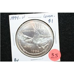 1994-W US National Prisoner of War Museum Commerative $1 Coin, BU