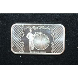The High Wheeler Silver Ingot, .999 Fine Silver 1 Oz., Madison Mint