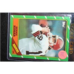 1986 NFL Topps Bernie Kosar-Cleveland Browns Rookie Football Card