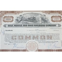 Gulf, Mobile and Ohio Railroad Co. Stock Certificate Dated 1969