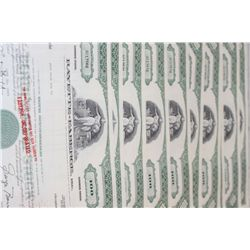 Faberge Inc. Stock Certificate Dated 1969, Lot of 10