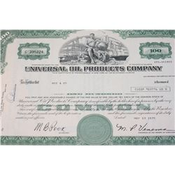 Universal Oil Products Co. Stock Certificate Dated 1975