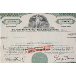 Faberge Inc. Stock Certificate Dated 1969