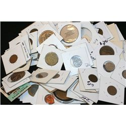 Grab Bag of US Coin, Foreign Coin, Token, Wooden Nickel, Etc., Various Dates, Conditions & Denominat