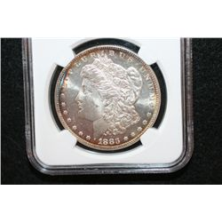 1883 Silver Morgan $1, NGC Graded MS63