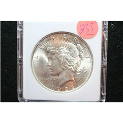 1922 Peace $1, MCPCG Graded MS64