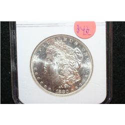 1880-S Silver Morgan $1, NGC Graded MS64
