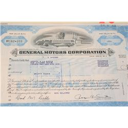 General Motors Corp. Stock Certificate Dated 1982