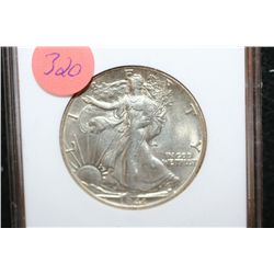 1941-S Walking Liberty Half Dollar, ANACS Graded AU55 Details, Counting Wheel Damage