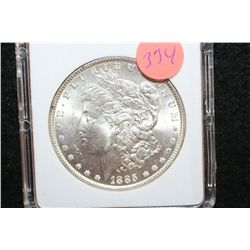 1885 Silver Morgan $1, MCPCG Graded MS65