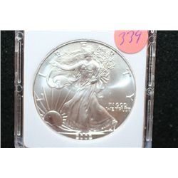 2002 Silver Eagle $1, MCPCG Graded MS70