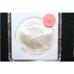 2006 Silver Eagle $1, MCPCG Graded MS70