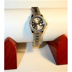 Ladies 18K Yellow Gold Rolex Wtach