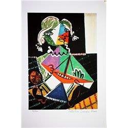 Picasso Limited Edition - Girl With A  Boat - from Collection Domaine Picasso