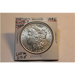 1902 Morgan Silver Dollar-MS-60