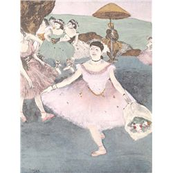 Dancer With Bouqet II - Edgar Degas - Limited Edition on Canvas
