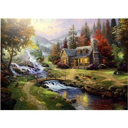 Mountain Paradise by Thomas Kinkade