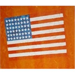 Flag on Orange Field II by Jasper Johns  Lithograph