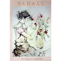 Young Woman with Flower by Sahall