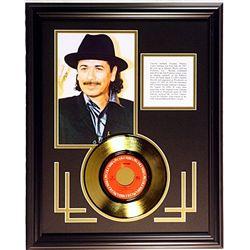 CARLOS SANTANA Giclee with Gold Record