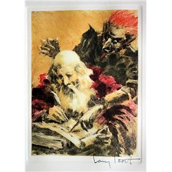 Original Louis Icart Lithographs from Le Faust suite - Satan's Contract