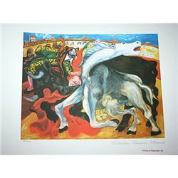 Limited Edition Picasso - Bull Fight, Death Of A Torreador - Collection Domaine Picasso