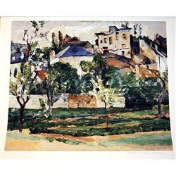 Limited Edition Cezanne- The Garden Of Pontoise - Collection Domaine Cezanne