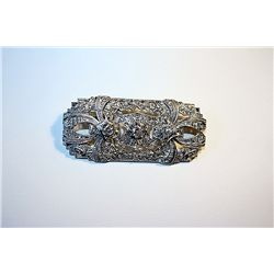 Ladies 14K Gold Diamond Brooch