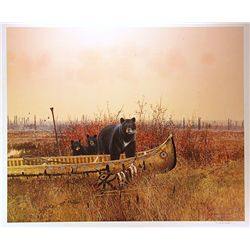 Michael Coleman Mix Media Litho/Serigraph  Grizzlies