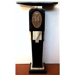 Onyx and White Marble Chiparus Pedestal